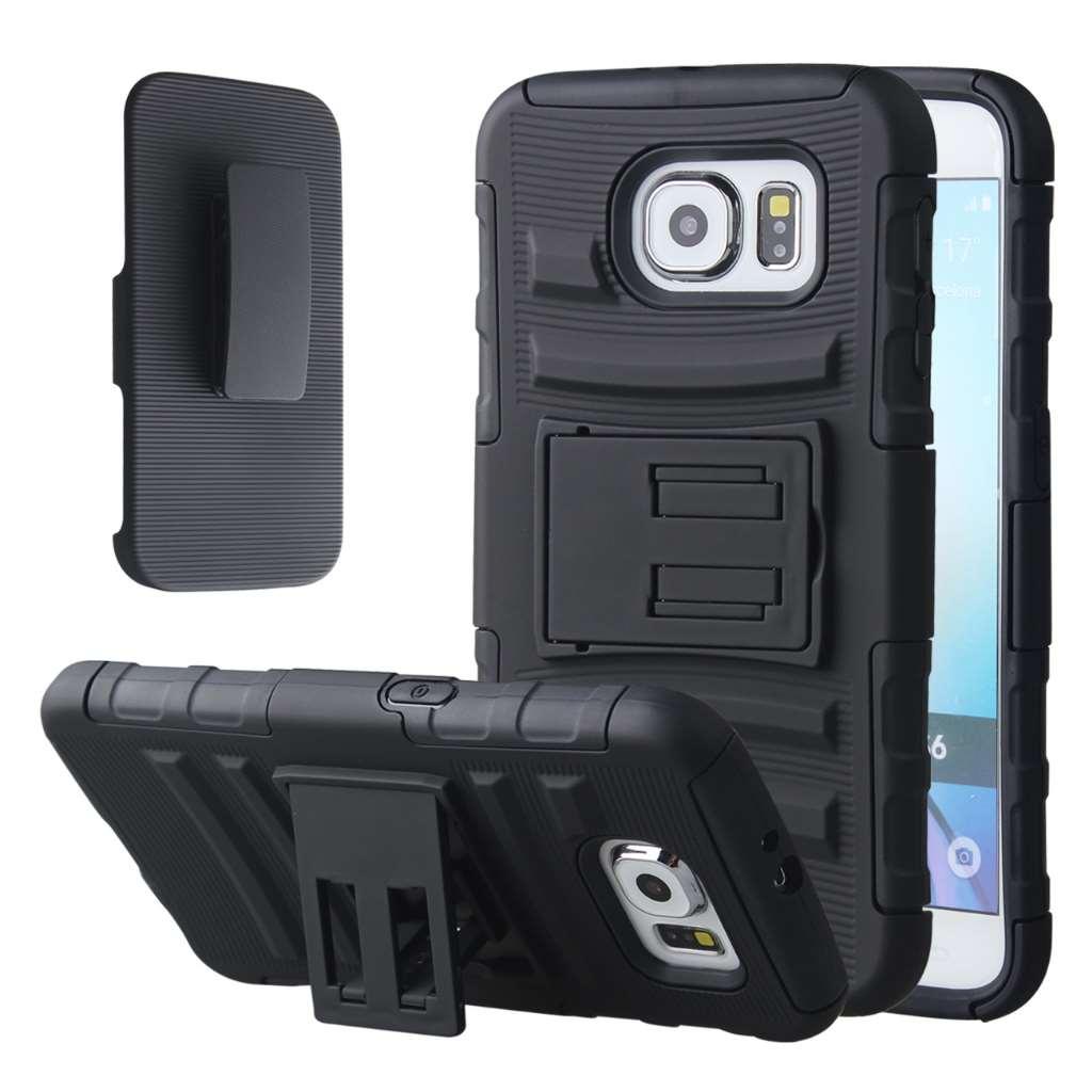 Samsung Galaxy S6 - Black MPERO IMPACT XT - Kickstand Case Cover