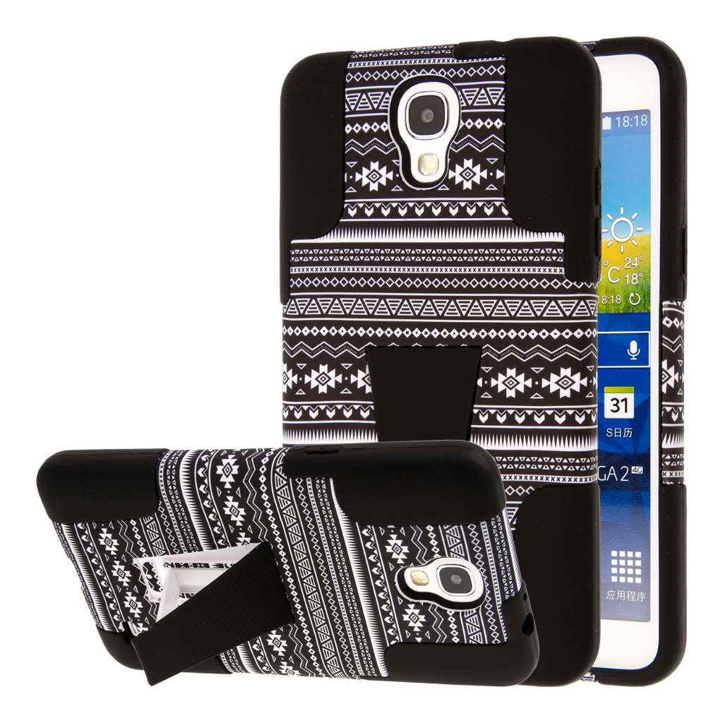 Samsung Galaxy Mega 2 - Black Aztec MPERO IMPACT X - Kickstand Case Cover
