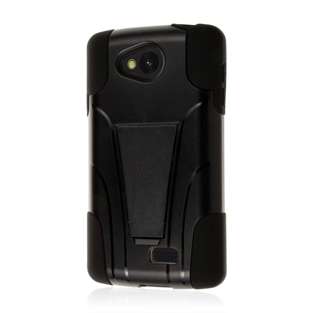 LG F60 - Black MPERO IMPACT X - Kickstand Case Cover