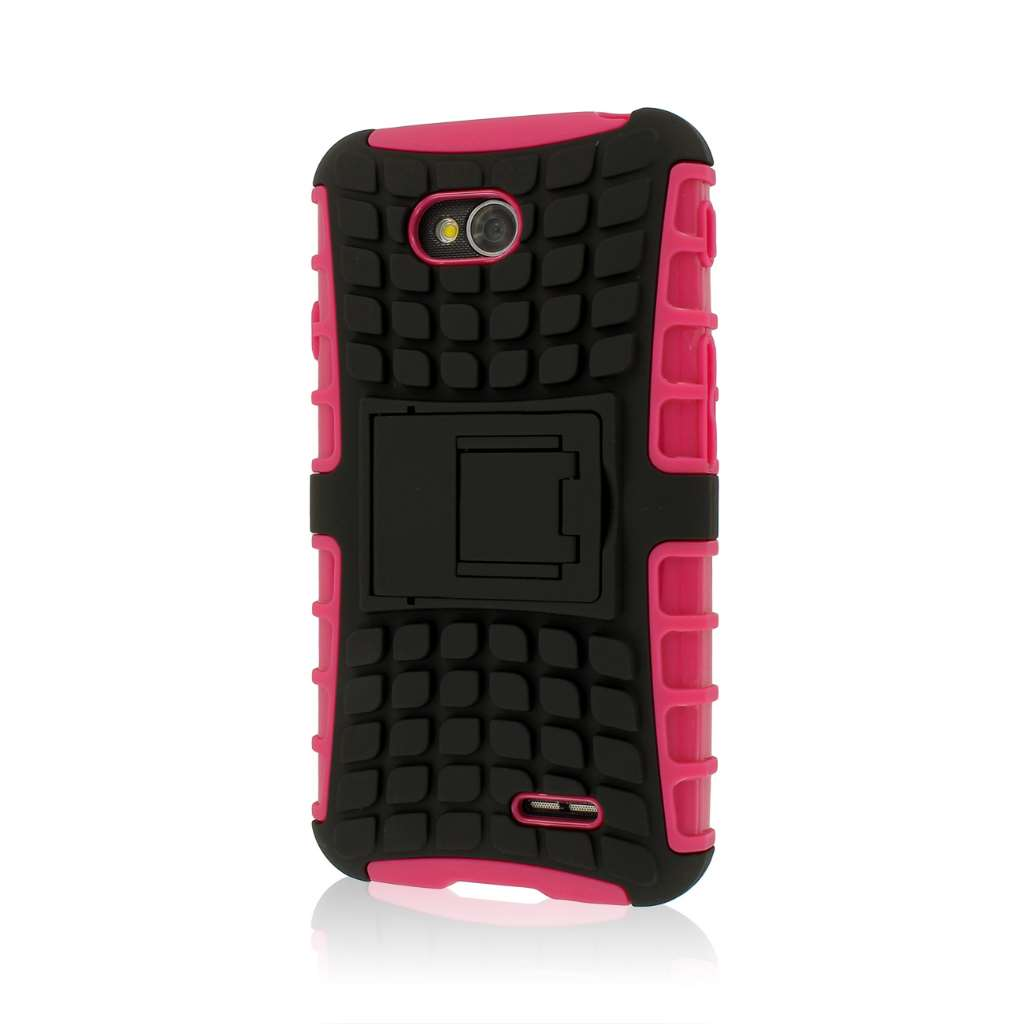LG Optimus L70 - Hot Pink MPERO IMPACT SR - Kickstand Case Cover