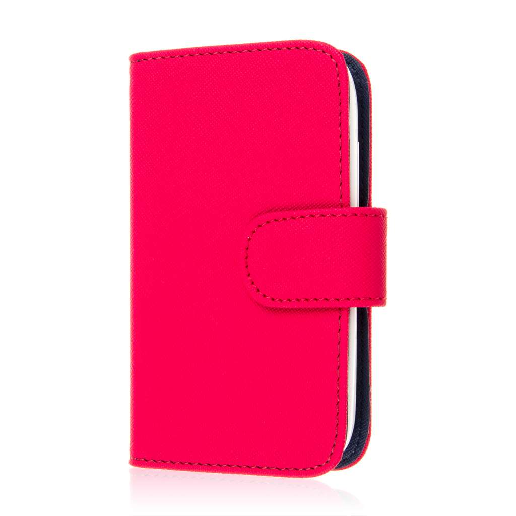 Alcatel OneTouch Evolve 2 - Hot Pink MPERO FLEX FLIP Wallet Case Cover