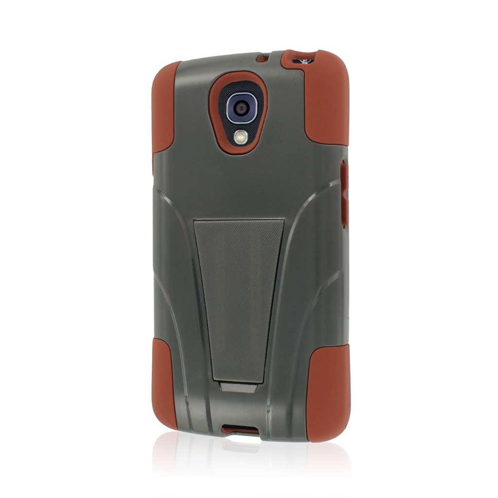 LG Volt - Sandstone / Gray MPERO IMPACT X - Kickstand Case Cover