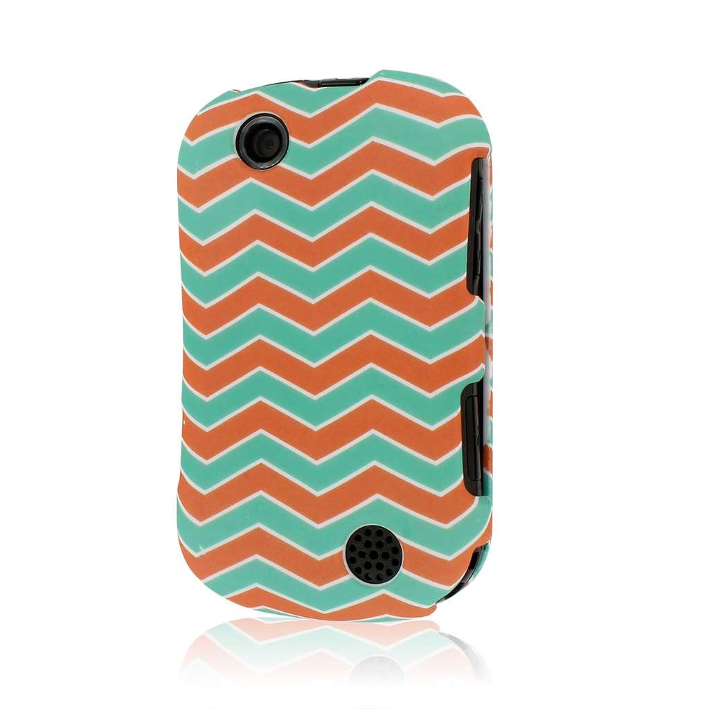 Kyocera Milano - Mint Chevron MPERO SNAPZ - Rubberized Case Cover