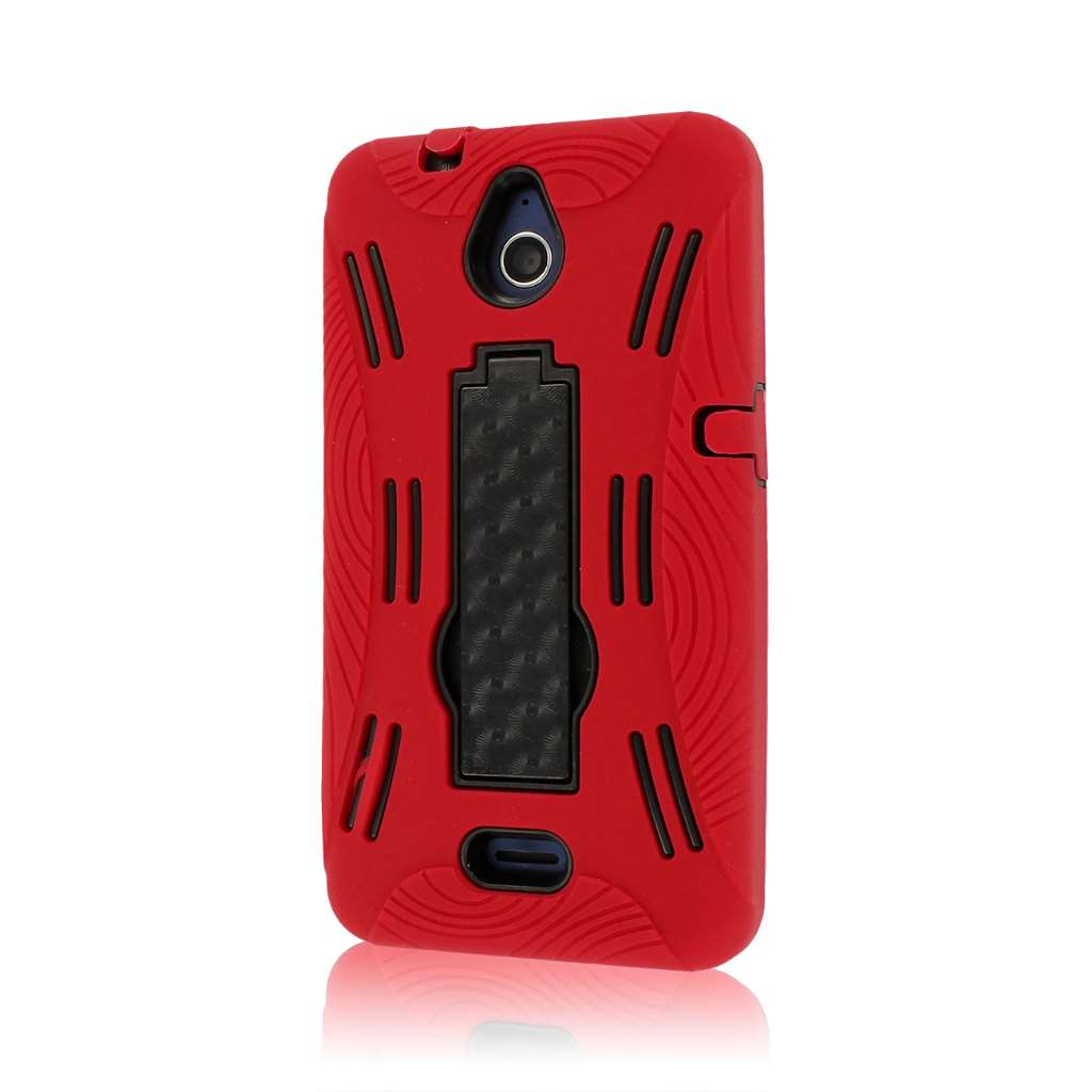 Huawei Valiant - Red MPERO IMPACT XL - Kickstand Case Cover