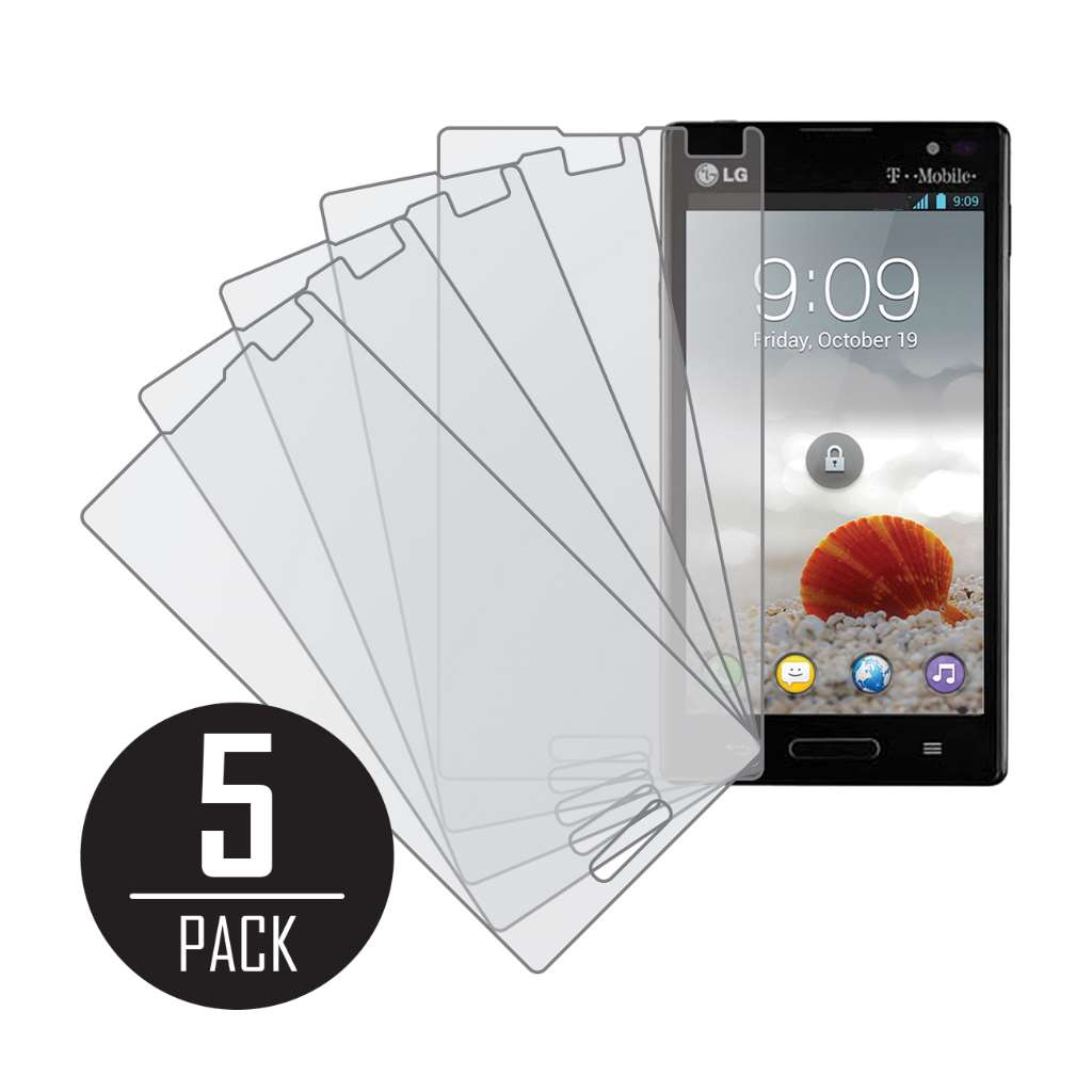LG Optimus L9 P760 MPERO 5 Pack of Matte Anti-Glare Screen Protectors