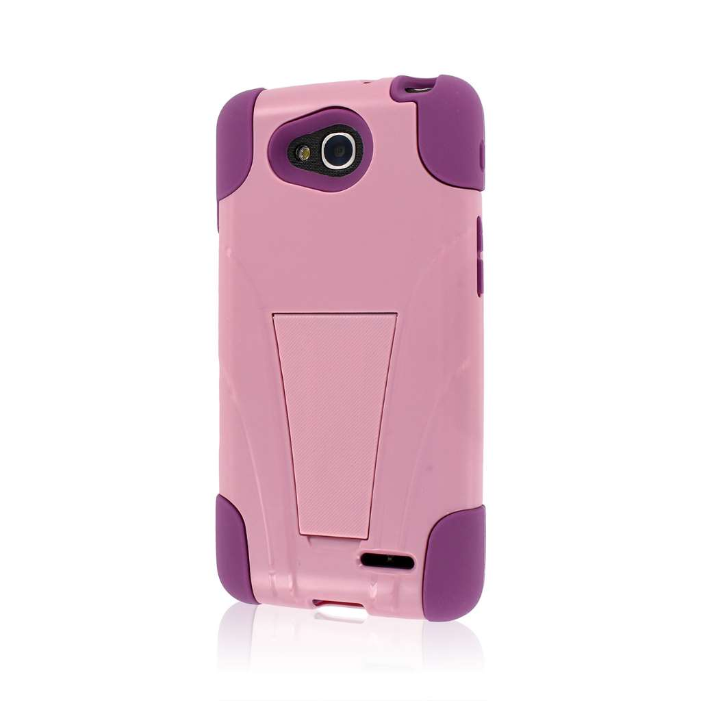 LG Optimus Exceed 2 - Pink MPERO IMPACT X - Kickstand Case Cover