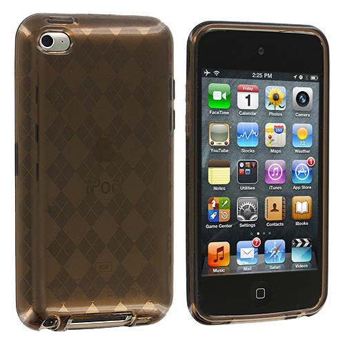 Apple iPod Touch 4th Generation Smoke Checkered TPU Rubber Skin Case Cover