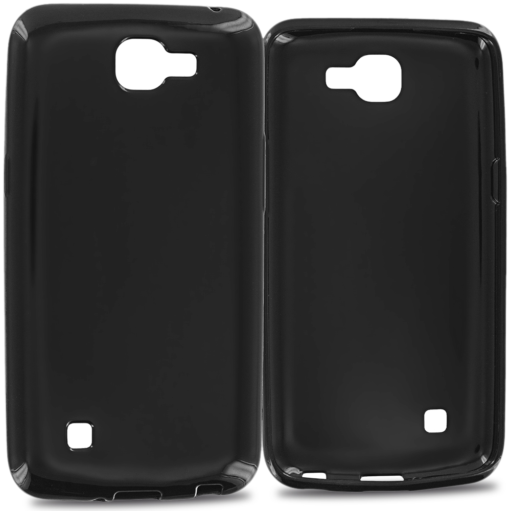 LG Spree Optimus Zone 3 VS425 K4 Black TPU Rubber Skin Case Cover
