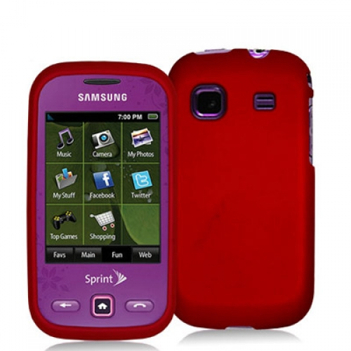 Samsung Trender M380 Red Hard Rubberized Case Cover