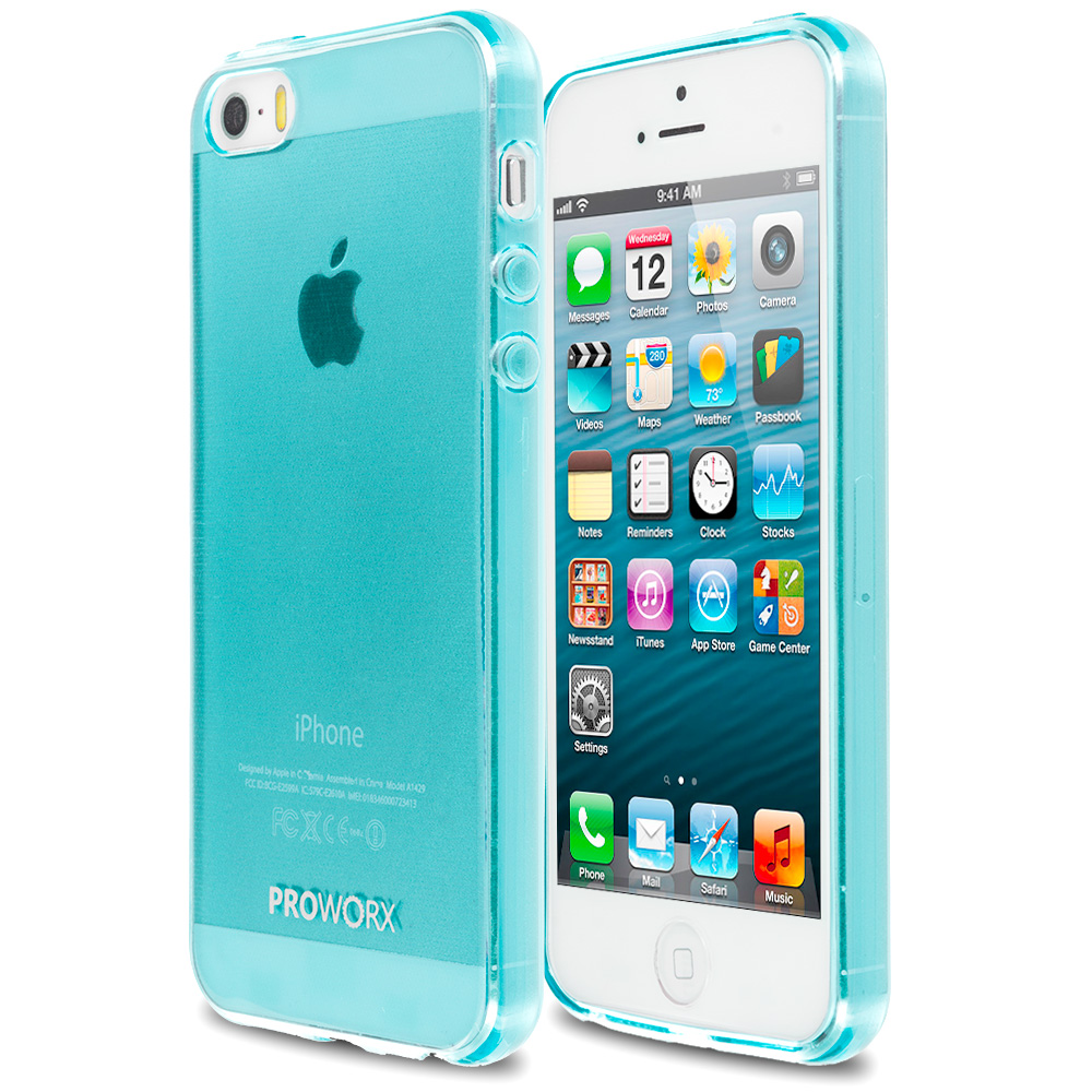 Apple iPhone 5/5S/SE Mint Green ProWorx Ultra Slim Thin Scratch Resistant TPU Silicone Case Cover