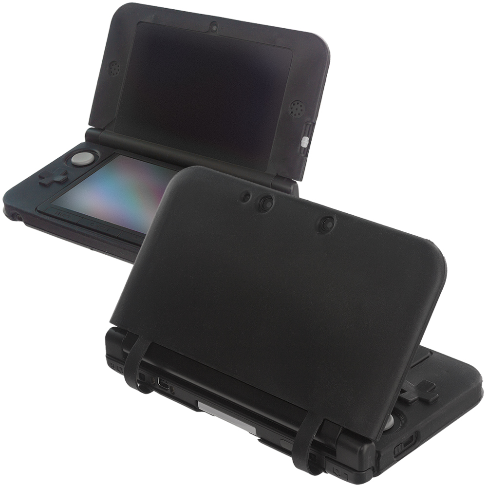 Nintendo 3DS XL Black Silicone Soft Skin Case Cover