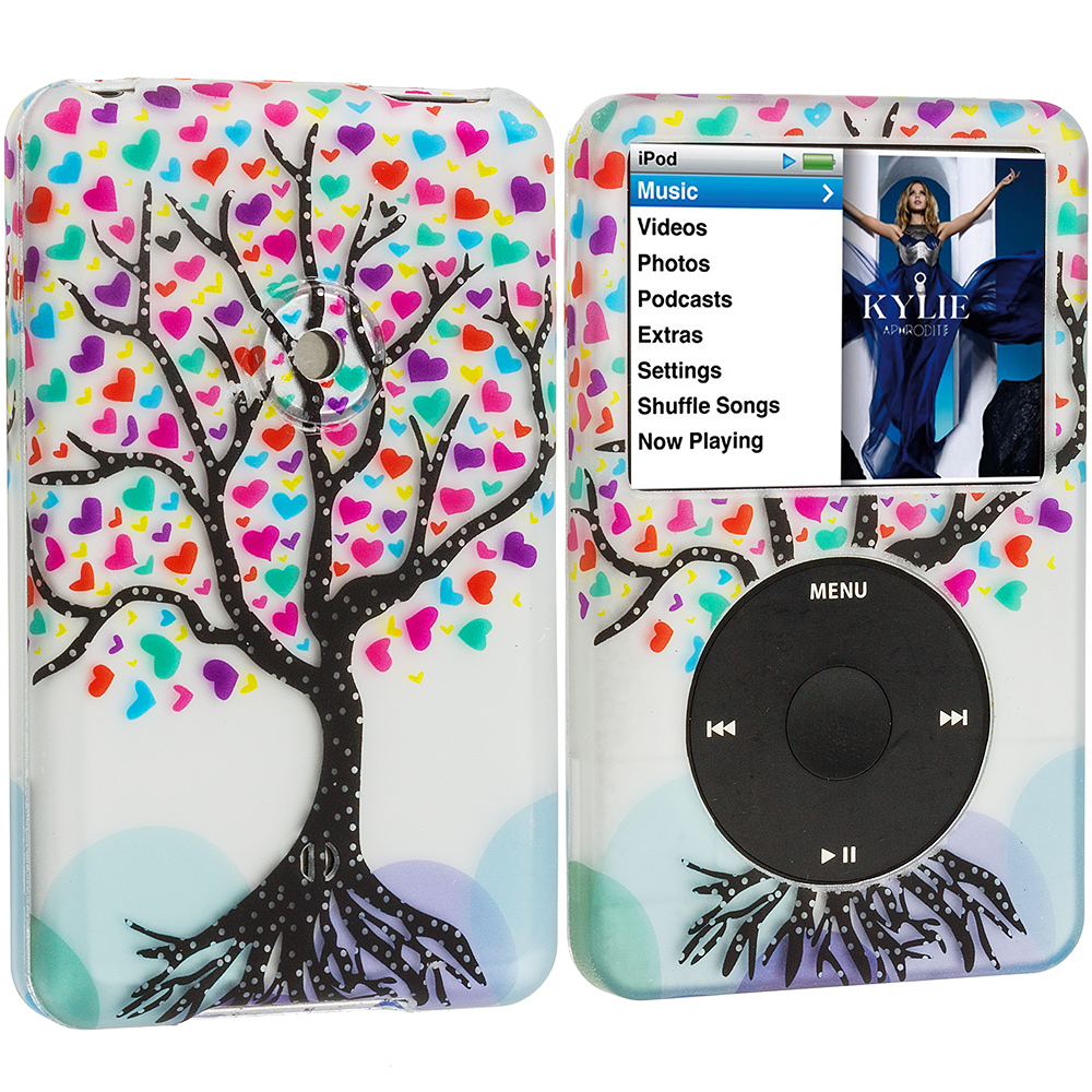 Apple iPod Classic Wishing Tree Hard Rubberized Design Case Cover