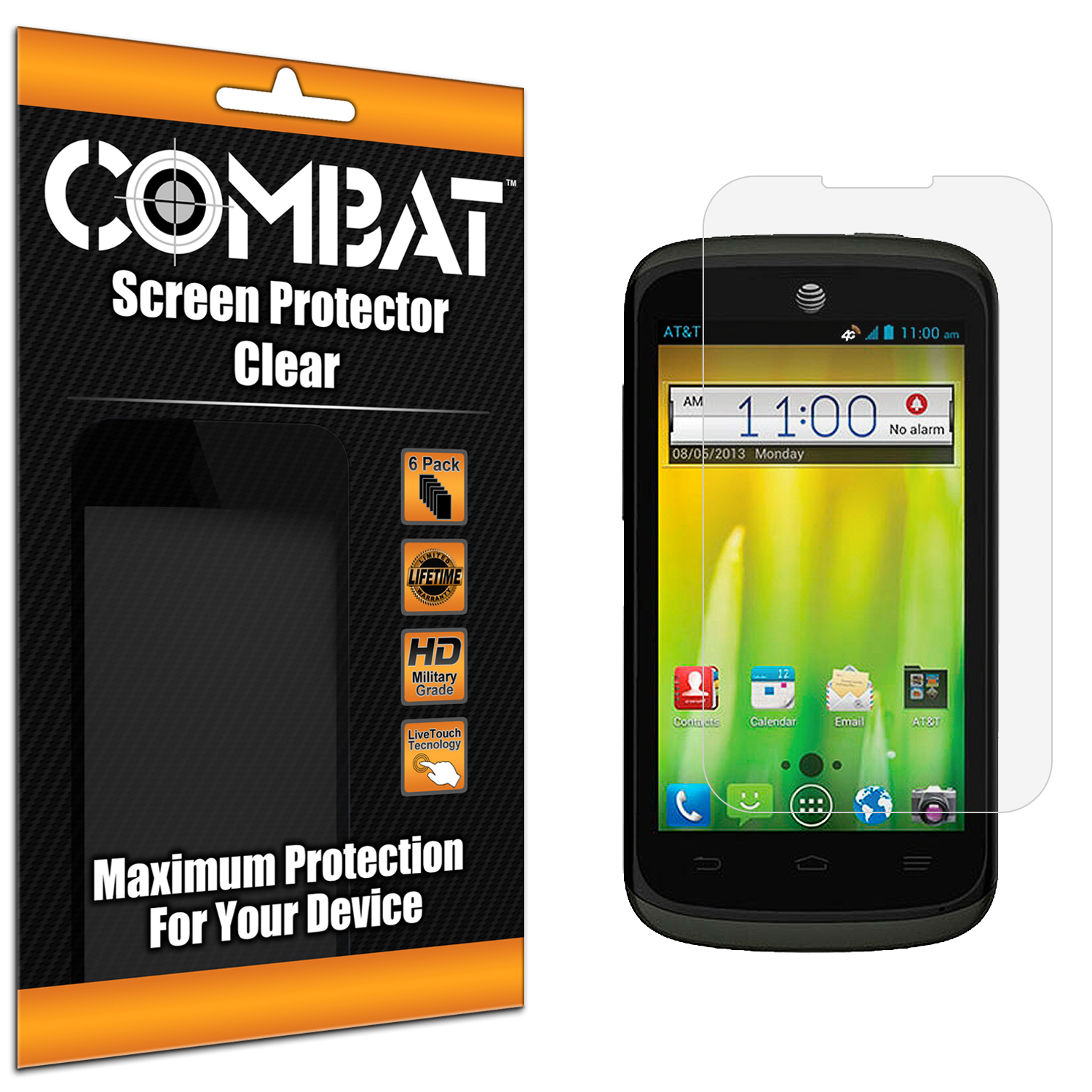 ZTE Radiant Combat 6 Pack HD Clear Screen Protector