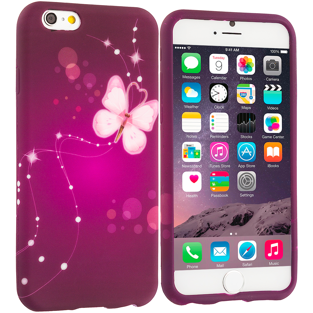 Apple iPhone 6 Plus Dream Butterfly TPU Design Soft Rubber Case Cover