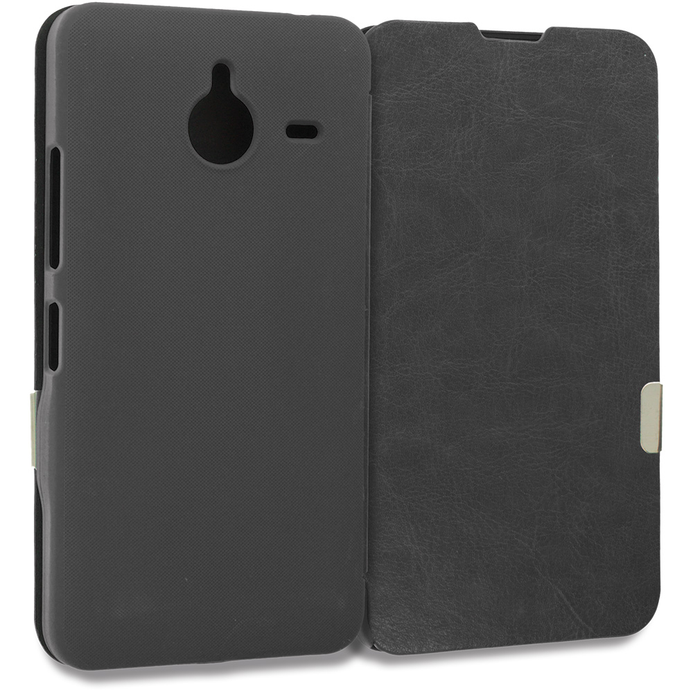 Microsoft Lumia 640 XL Black Magnetic Flip Wallet Case Cover Pouch