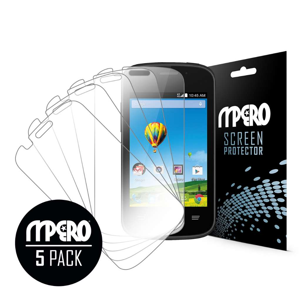 ZTE Zinger MPERO 5 Pack of Ultra Clear Screen Protectors