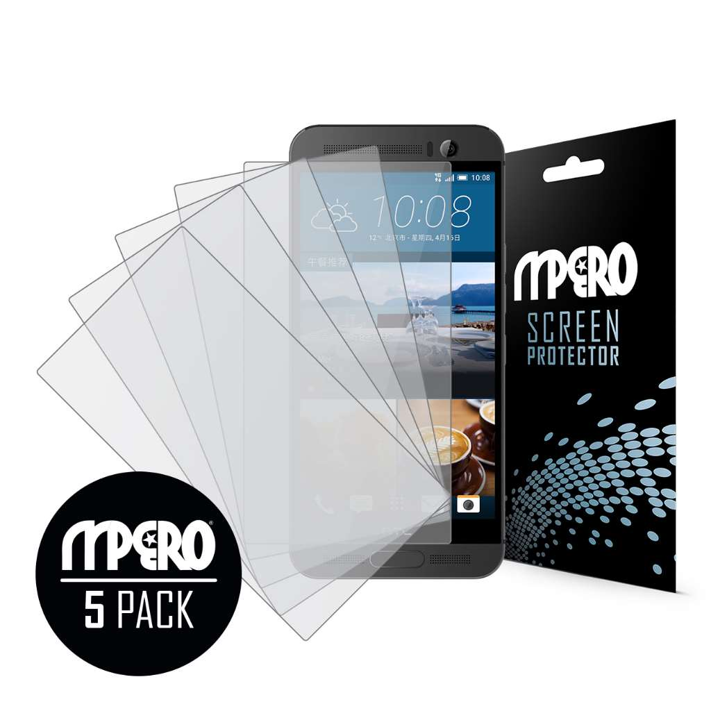 HTC One M9 Plus MPERO 5 Pack of Matte Screen Protectors