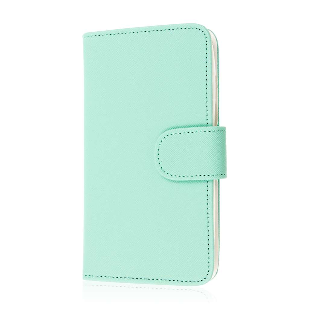 Motorola DROID TURBO - Mint MPERO FLEX FLIP Wallet Case Cover