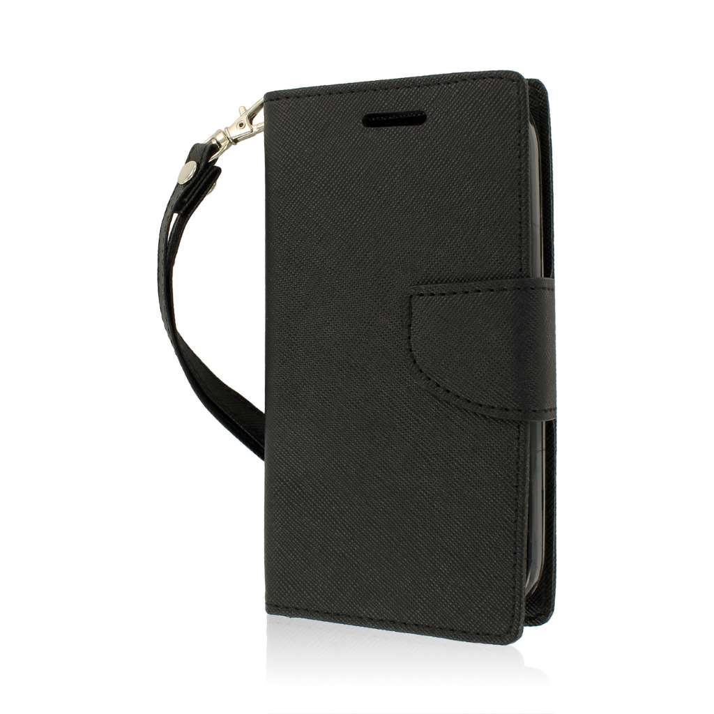 Kyocera Hydro Icon - Black MPERO FLEX FLIP 2 Wallet Stand Case Cover
