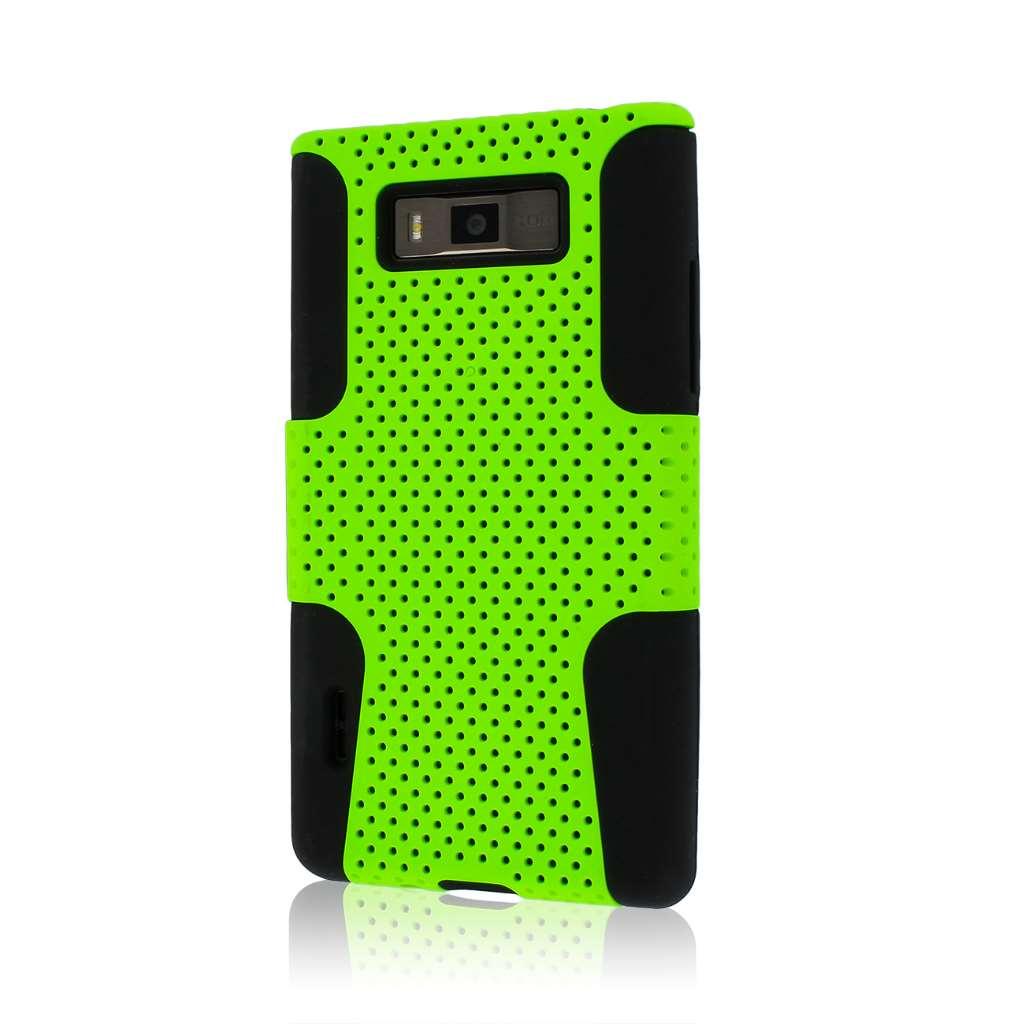 LG Venice / Splendor US730 - Neon Green MPERO FUSION M - Protective Case