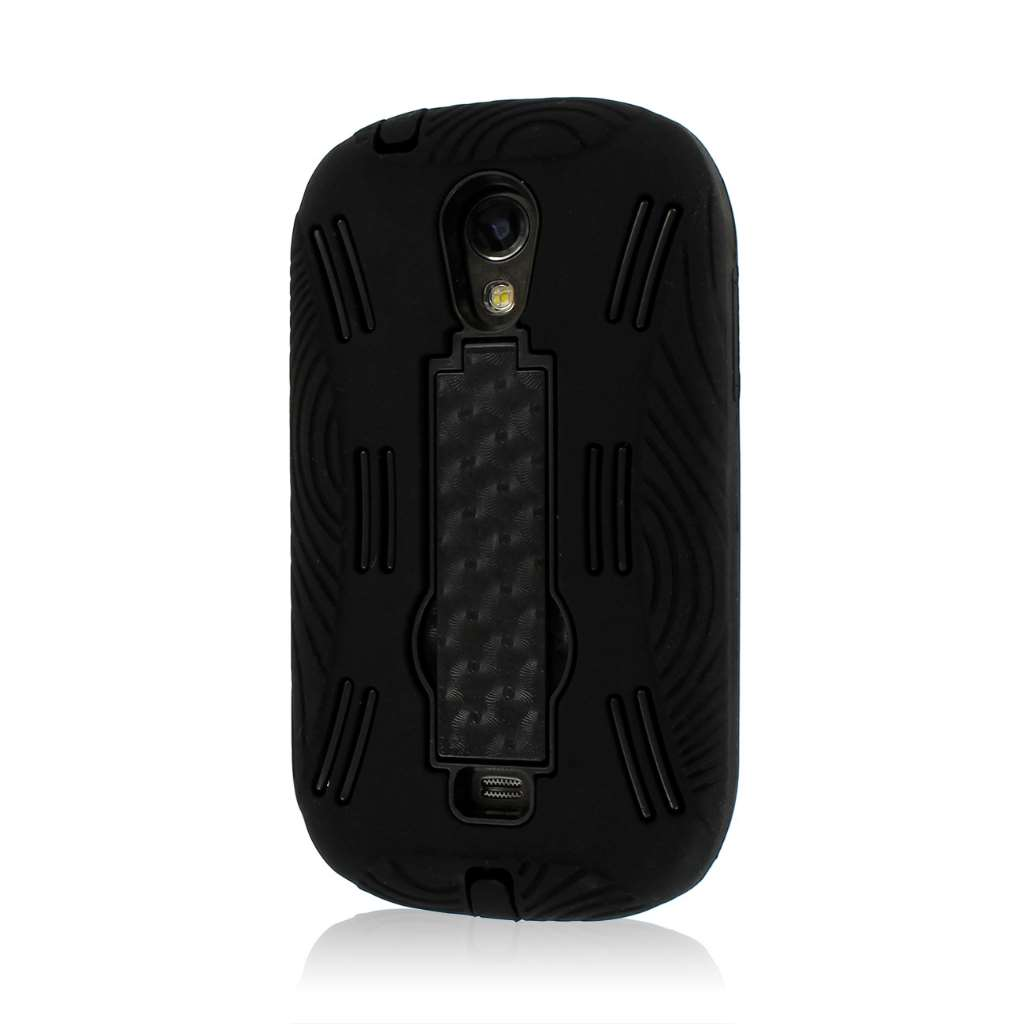 Samsung Galaxy Light T399 - Black MPERO IMPACT XL - Kickstand Case Cover