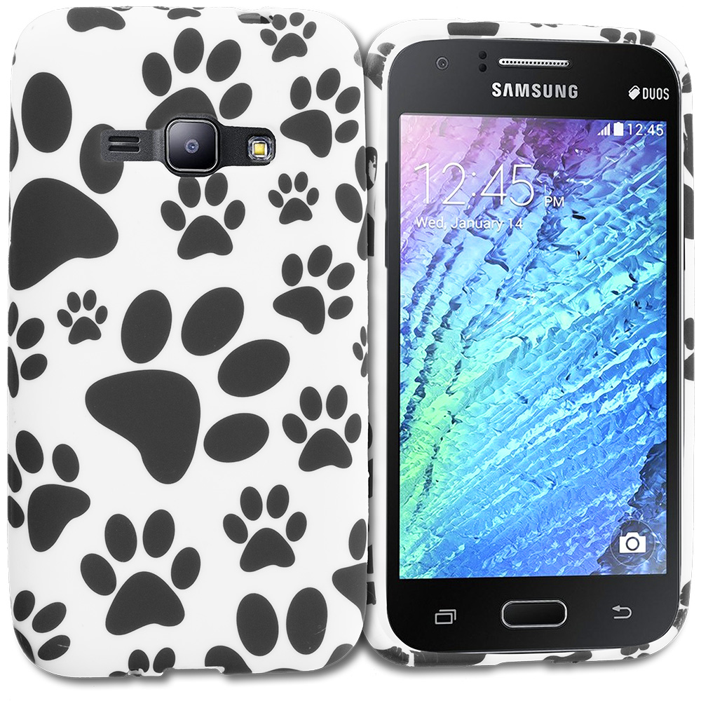 For Samsung Galaxy J1 2016 Dog Paw TPU Design Soft Rubber Case Cover