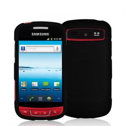 Samsung Admire R720 Black Hard Rubberized Case Cover