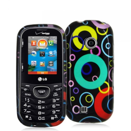 LG Cosmos 2 VN251 Bubbles Design Crystal Hard Case Cover