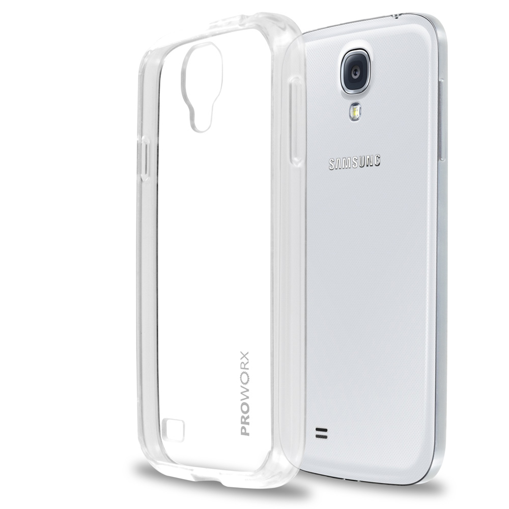 Samsung Galaxy S4 Clear ProWorx Shock Absorption Case Bumper TPU & Anti-Scratch Clear Back Cover