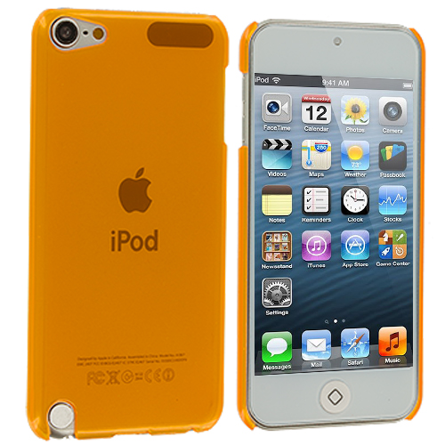 Apple iPod Touch 5th 6th Generation Orange Crystal Hard Back Cover Case