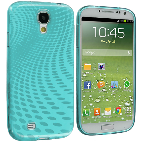 Samsung Galaxy S4 Mint Green Peacock TPU Rubber Skin Case Cover