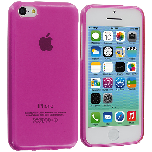 Apple iPhone 5C Hot Pink TPU Rubber Skin Case Cover