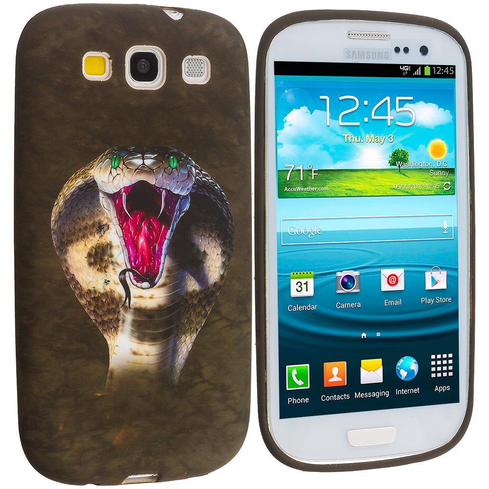 Samsung Galaxy S3 Kobra Snake TPU Design Soft Case Cover