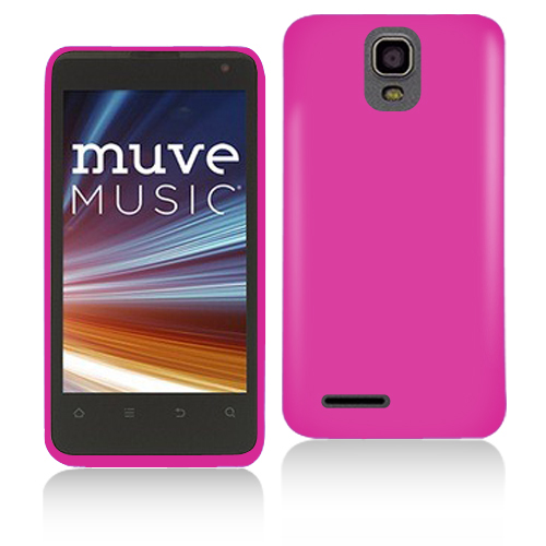 ZTE Engage LT N8000 Hot Pink Hard Rubberized Case Cover
