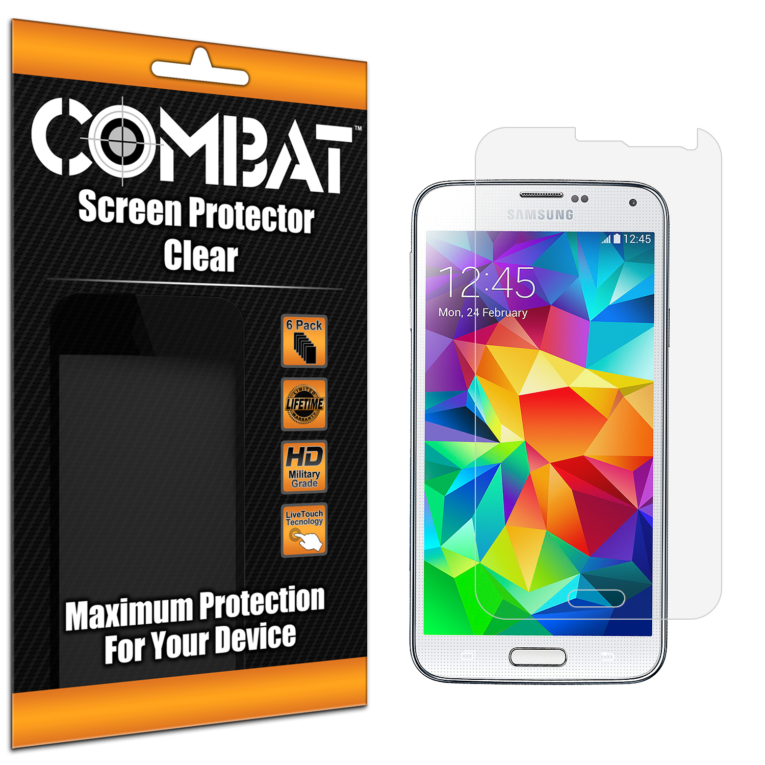 Samsung Galaxy S5 Combat 6 Pack HD Clear Screen Protector