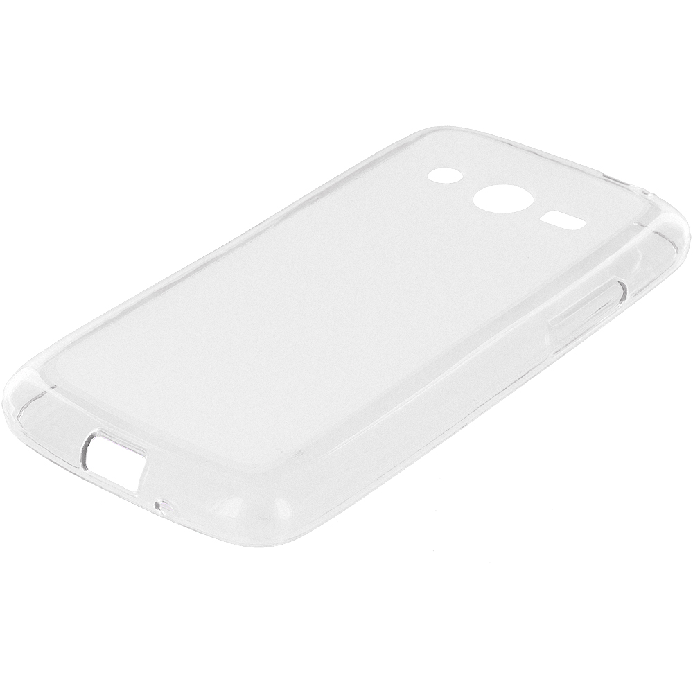 Samsung Galaxy Avant G386 Clear TPU Rubber Skin Case Cover
