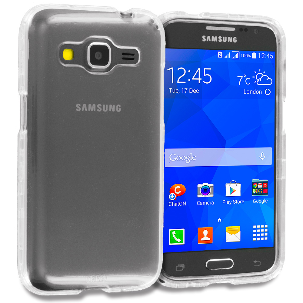 Samsung Galaxy Prevail LTE Core Prime G360P Clear Crystal Transparent Hard Case Cover