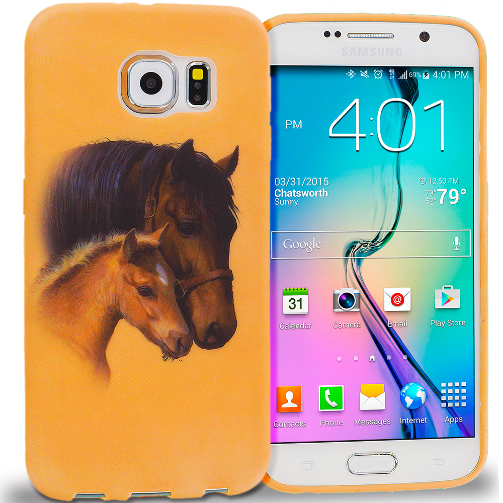 Samsung Galaxy S6 Edge Horse TPU Design Soft Rubber Case Cover