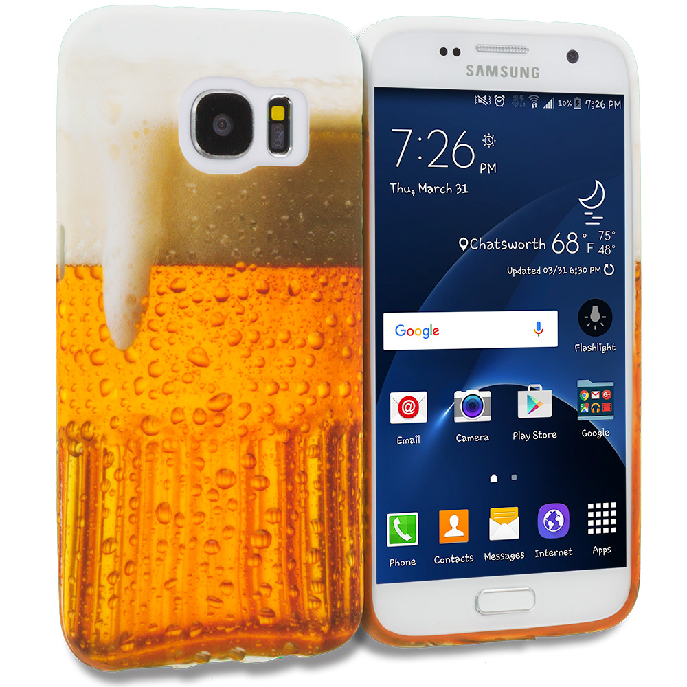 Samsung Galaxy S7 Beer TPU Design Soft Rubber Case Cover