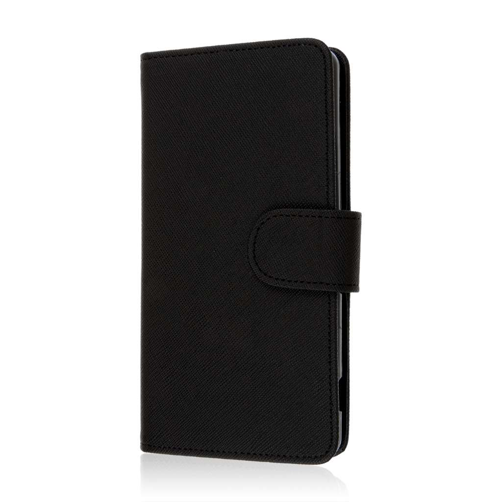 Sony Xperia Z3v - Black MPERO FLEX FLIP Wallet Case Cover