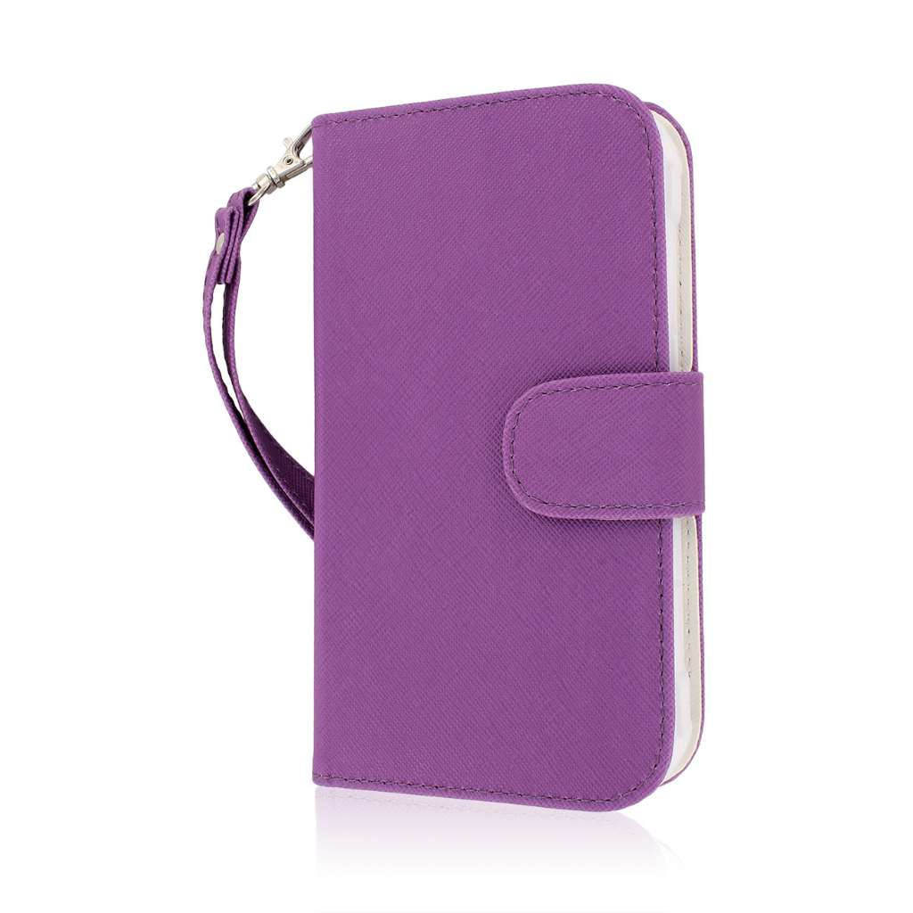 Samsung Galaxy S5 Active - Purple MPERO FLEX FLIP Wallet Case Cover