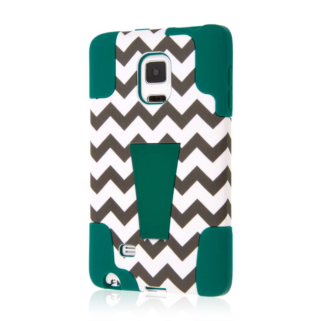 Samsung Galaxy Note Edge - Teal Chevron MPERO IMPACT X - Kickstand Case
