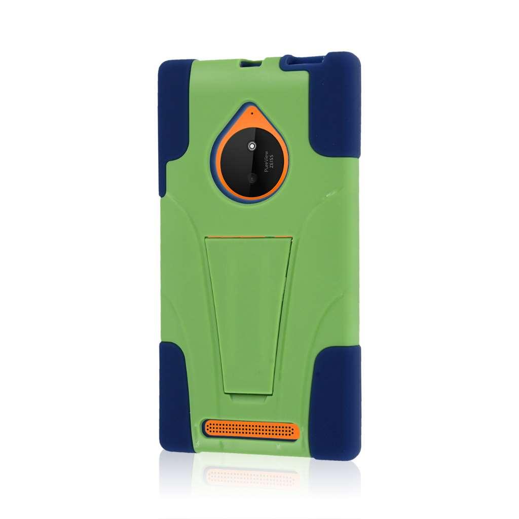 Nokia Lumia 830 - Blue / Green MPERO IMPACT X - Kickstand Case Cover