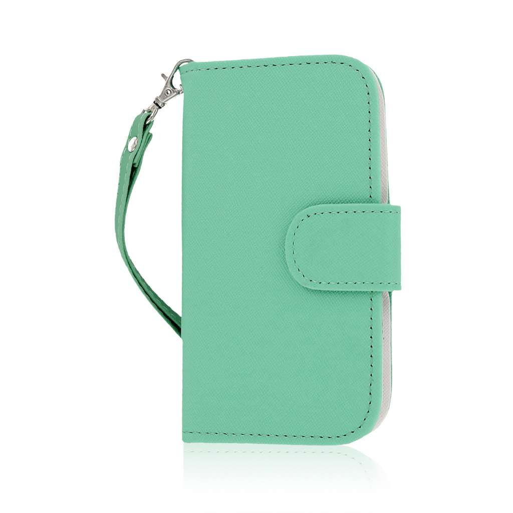 HTC One SV - Mint MPERO FLEX FLIP Wallet Case Cover