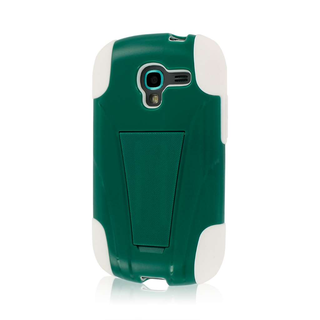 Samsung Galaxy Exhibit- TEAL GREEN MPERO IMPACT X - Kickstand Case Cover