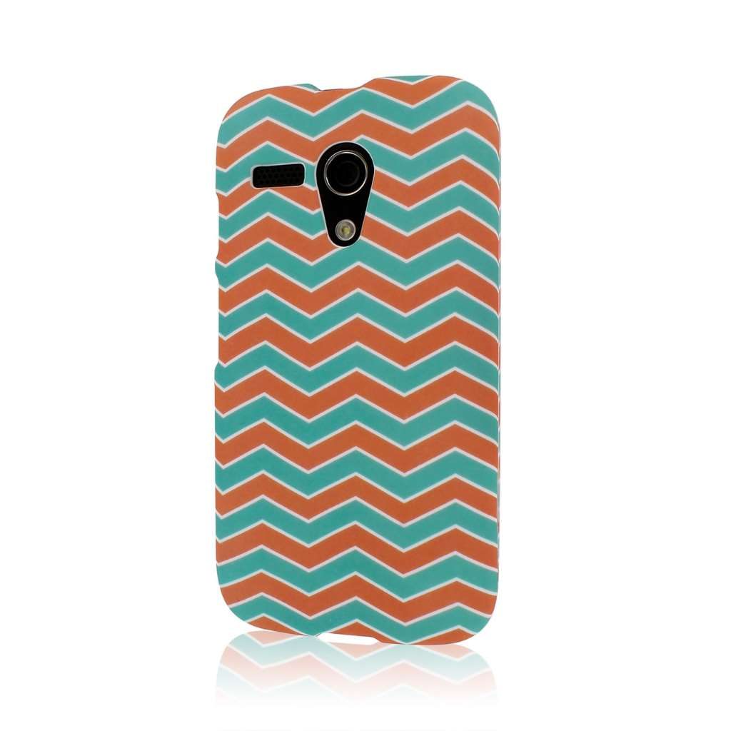 Motorola Moto G - Mint Chevron MPERO SNAPZ - Rubberized Case Cover