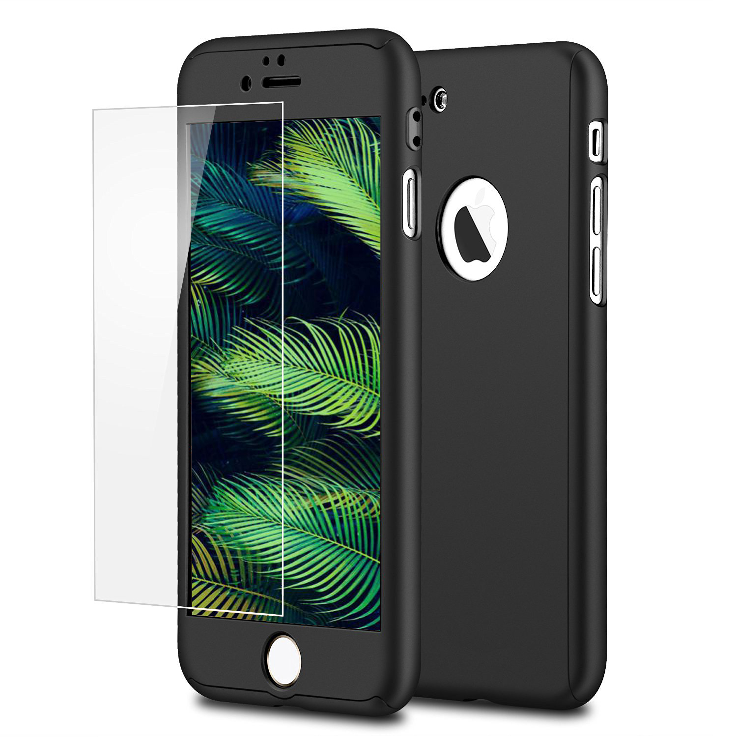 for apple iphone 7 7 plus 360 full protection hard case tempered glass cover ebay. Black Bedroom Furniture Sets. Home Design Ideas