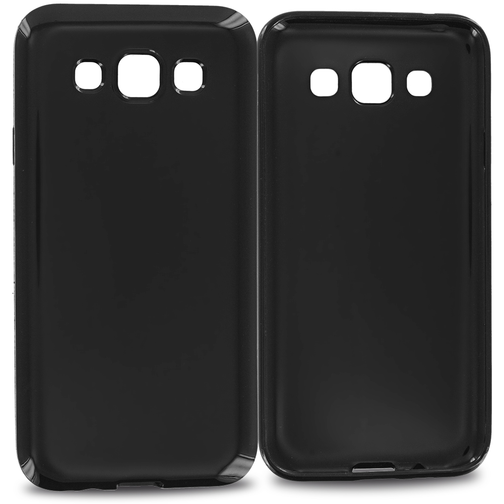 Samsung Galaxy E5 S978L Black TPU Rubber Skin Case Cover