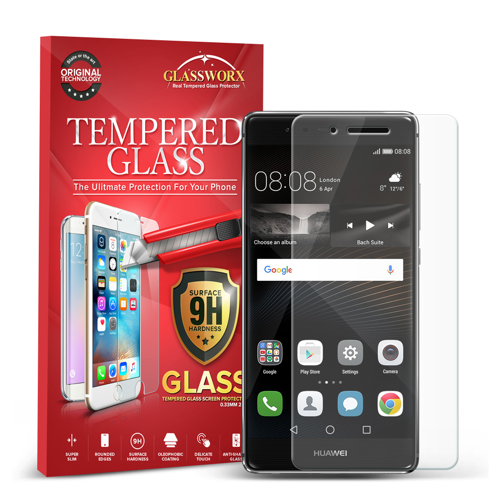 Huawei P9 GlassWorX HD Clear Tempered Glass Screen Protector