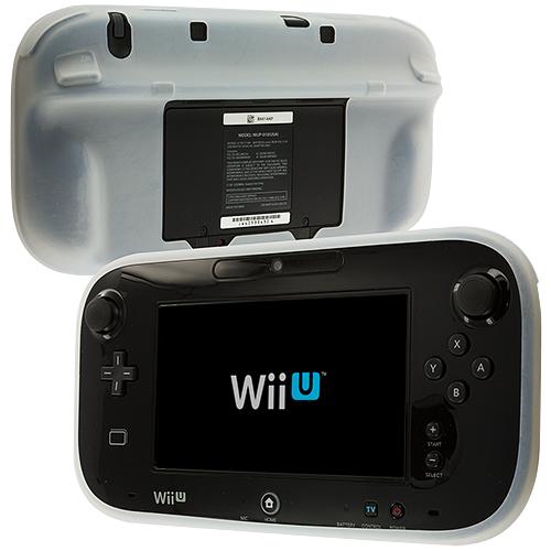 Nintendo Wii U Gamepad Controller Clear Silicone Soft Skin Case Cover